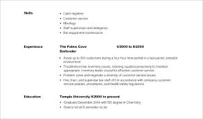 Good Samples Of Resumes Resume Bad Examples And Best Bartender Sample For Highschool