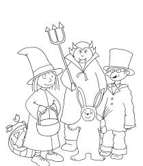 Halloween Costumes Coloring Pages Printable Free