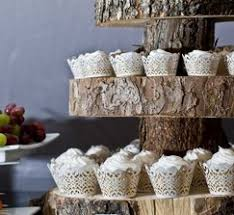 Rustic Natural Wood Cake Stand As Featured On HWTM