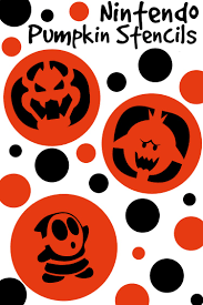 Day Of The Dead Pumpkin Carving Patterns by Nintendo Halloween Pumpkin Stencils Totally The Bomb Com