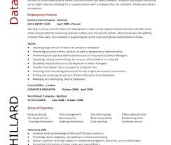 Sample Resume With No Experience For Data Entry Us