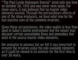 Paul Lynde Halloween Special Dvd by Paul Lynde Halloween Special