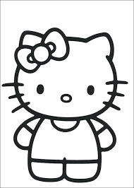 Full Image For Hello Kitty Coloring Pages Free Birthday