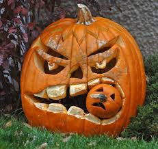 Scary Pumpkin Carving Ideas by Decoration Top Notch Image Of Spooky Eating Another Pumpkin