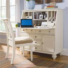 Raymour And Flanigan Desk With Hutch american drew camden light secretary desk with drop down lid