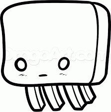 How To Draw A Chibi Ghast Step 5