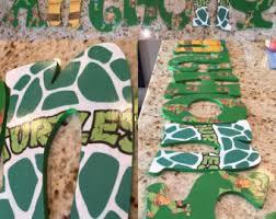 Ninja Turtle Themed Bathroom by Ninja Turtle Letters Etsy