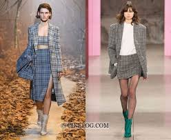 Fall Winter 2017 2018 Fashion Trends Plaid Womens Skirt Suits