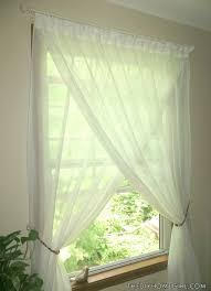 Jcpenney Lisette Sheer Curtains by Overlapping Sheer Curtains Diy Beaded Tiebacks Champagne Ivory