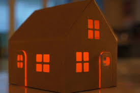 miniature casagami houses let you light up the using solar