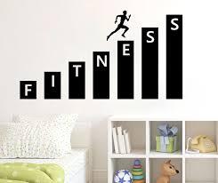 fitness wandtattoo vinyl aufkleber kunstdekor schlafzimmer design wand innendekoration wohnzimmer schlafzimmer tapete aufkleber