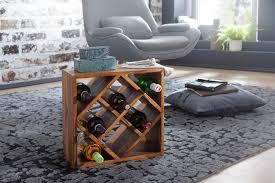 wohnling weinregal sheesham massivholz 40x40x25cm holzregal 8 flaschen