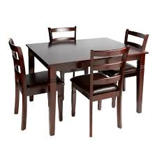 Espresso Dining Table And Chairs 5 Piece Set