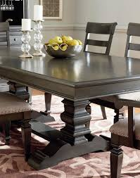 Trestle Dining Table With Smooth Grey Finish By Standard Furniture