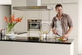 fototapete mann in küche