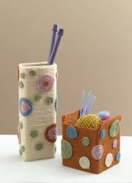 Wrap Yarn Around Old Milk Cartons And Make The Polka Dots By Spiraling In