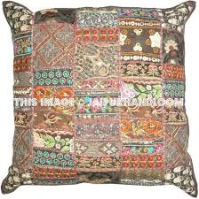 Large Decorative Couch Pillows by 24x24 Inch Vintage Patchwork Throw Pillows Patchwork Pillows Cushion