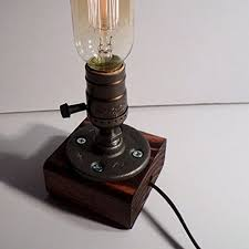 loft vintage t45 edison bulb table l dimmable water pipe light