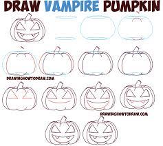 Vampire Pumpkin Designs by Huge Guide To Drawing Cartoon Pumpkin Faces Jack O U0027lantern Faces