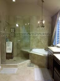 master bath with chandelier new master bath with frameless glass