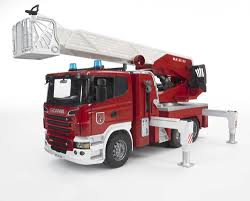 BRUDER SCANIA R-series Fire Engine With Water Pump 03590 | EBay