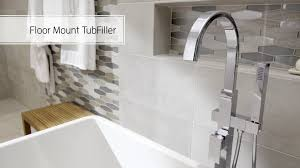 Delta Floor Mount Tub Filler Rough In by How To Install The American Standard Freestanding Tub Faucet Youtube