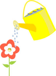 Happy Flower Being Watered Clip Art at Clker vector clip art