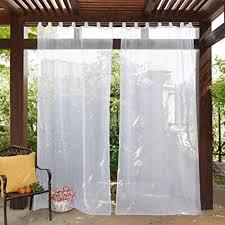 pony schlaufenvorhang weiß 1 stück h 274 x b 137cm voile gardinen balkon outdoor vorhang transparent stores gardinen wohnzimmer