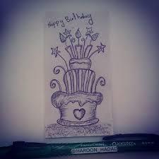 A quick birthday 🎂 cake sketch 😃 birthday cake party design