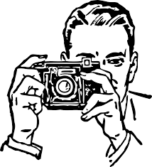 Camera clipart black and white with a camera black white