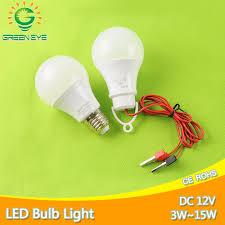 new cable clip e27 led bulb dc 12v ac 220v portable hang light