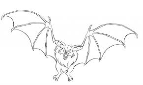 Bat Coloring Pages Free Printable For