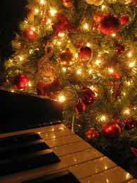 Tree Music Light Night Decoration Instrument Piano Holiday Christmas Fir Lighting Decor Ornament