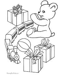 Christmas Gift Kids Printable Coloring Page