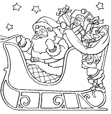 Father Christmas Colouring Pictures 1385514