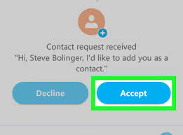 Accept a Contact Request on Skype on Android