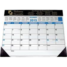 Decorative Desk Blotter Calendars by Promotional Desk Planners With Custom Logo For 2 56 Ea