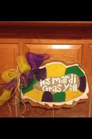 Burlap Mardi Gras Door Decorations by 168 Best King Cake Babies And King Cakes Images On Pinterest
