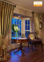 Dress Curtains Soften A Bay Find This Pin And More On Dining Room Window
