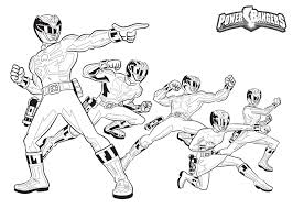 Power Rangers Megaforce Printable Coloring Page