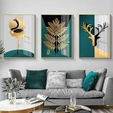 wohnzimmer dekoration malerei triptychon moderne minimalistischen licht luxus elch malerei poster schlafzimmer esszimmer halle korridor hause de
