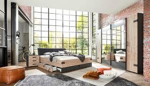 4 tlg schlafzimmer in silber tanne dekor graphit