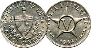 Cuba 1 2 5 And 20 Centavos 1915 To 1972
