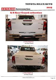 100 Cheapest 4x4 Truck Toyota Hilux Revo Rear Bumper Hilux Revo Accessories Toyota