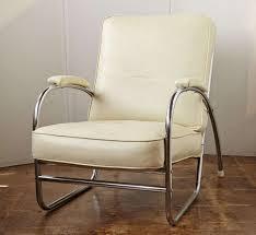 Royalchrome / Howell Art Deco Tubular Lounge Chair & Ottoman