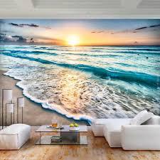 vlies fototapete strand landschaft meer tapete wohnzimmer