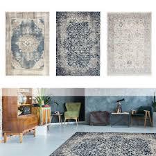 vintage teppich modern wohnzimmer teppiche shabby blau grau