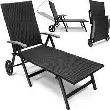 Outsunny Patio Furniture Instructions by Aluminium Poly Rattan Sun Lounger Garden Deck Chair Patio Terrace