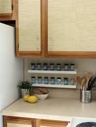 Apartment Rental Kitchen Makeover IKEA Ribba Picture Ledge Spice Jar Storage DIY Chalkboard Labels The Decor