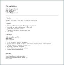 Bank Teller Resume Sample Samples Free Examples Resumes Example Job